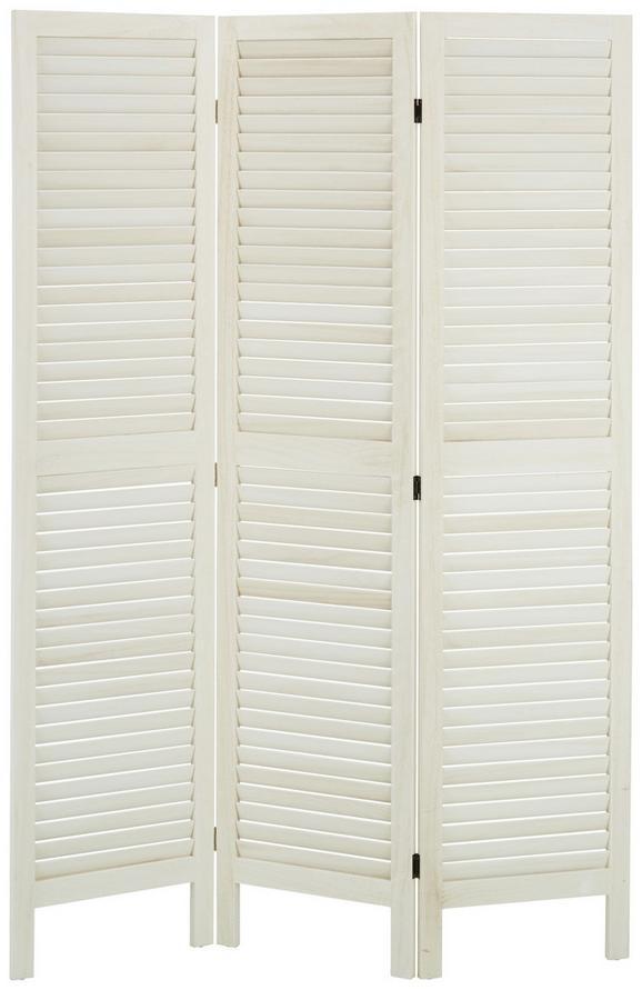 Paravent Weiß - Weiß, MODERN, Holz/Holzwerkstoff (120/170/2cm) - Mömax modern living