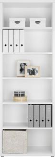 Regal Weiß - Alufarben/Weiß, MODERN, Holzwerkstoff/Kunststoff (78/220/37cm) - Premium Living
