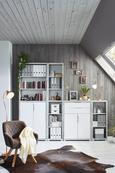 Regal Weiß - Weiß/Grau, MODERN, Holzwerkstoff (44/112/36cm) - Mömax modern living