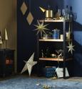 Geschenkbox Leonie Blau/goldfarben - Blau, Karton