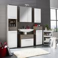 Unterschrank Weiß Hochglanz/braun - Dunkelbraun/Alufarben, KONVENTIONELL, Holzwerkstoff/Kunststoff (40/99/35cm) - Premium Living