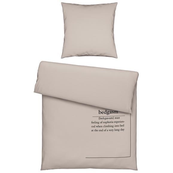 Bettwäsche Hygge in Sand ca. 135x200cm - Sandfarben, MODERN, Textil (135/200cm) - Premium Living