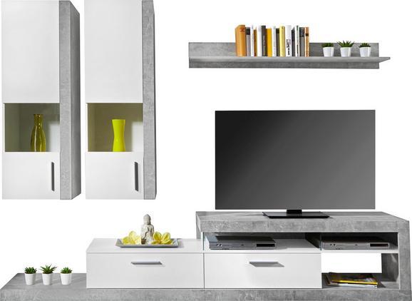 Dnevni Regal Iguan - bela/svetlo siva, Moderno, leseni material (260/190/42cm) - BASED