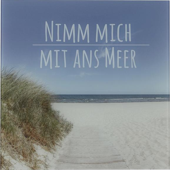 Glasbild Nimm Mich mit, ca. 30x30x2cm - Multicolor, ROMANTIK / LANDHAUS, Glas (30/30/2cm)