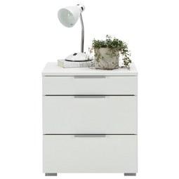 Nachtkästchenset in Weiß, 2-teilig - Alufarben, KONVENTIONELL, Holzwerkstoff/Kunststoff (47/52/42cm) - Modern Living