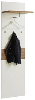 Garderobenpaneel Weiß/Kiefer - Weiß/Kieferfarben, MODERN, Holzwerkstoff/Kunststoff (55/196/36cm)