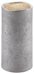 Led-kerze Loa H ca. 15 cm - Silberfarben, MODERN, Weitere Naturmaterialien (15cm)