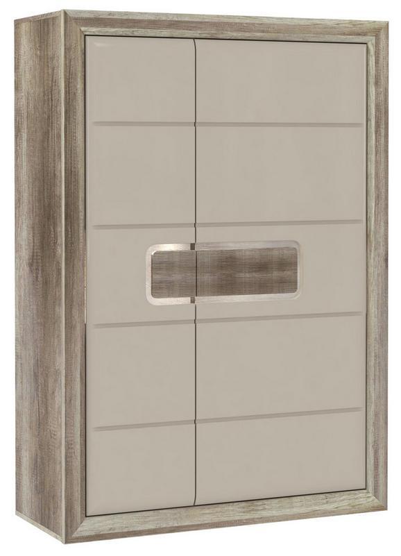 Omara Tiziano - hrast/bež, Moderno, kovina/umetna masa (108,8/155,4/43,5cm) - Mömax modern living