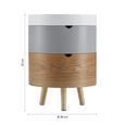 Couchtisch ca. 38 cm 'Giovanni' - Weiß/Grau, MODERN, Holz (38/52cm) - Bessagi Home