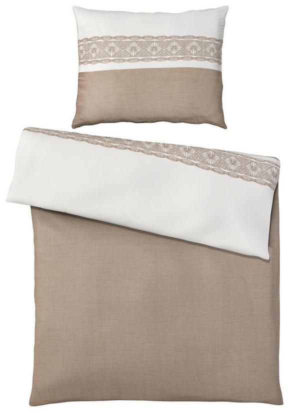 Ágyneműhuzat-garnitúra Ella - szürkésbarna, romantikus/Landhaus, textil (140/200cm) - MÖMAX modern living
