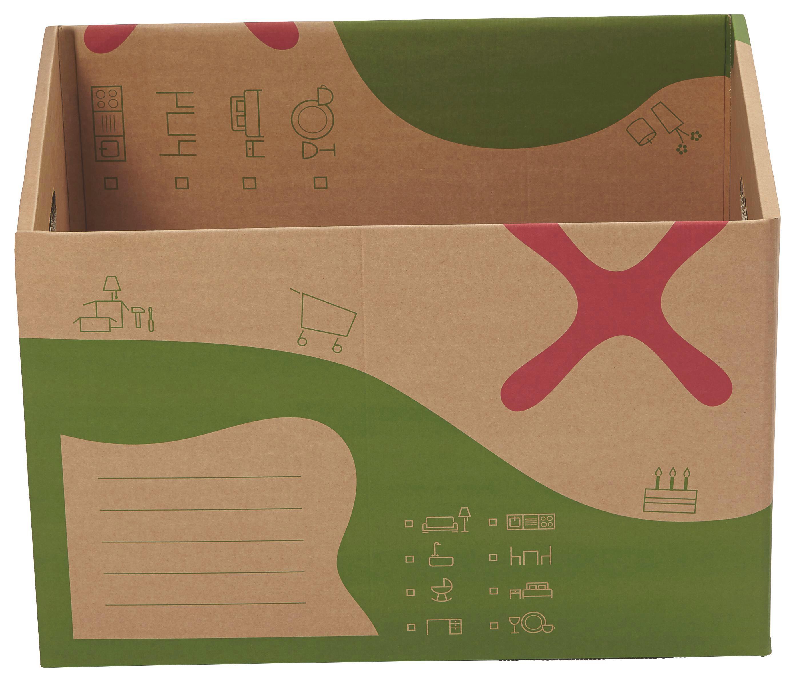 Kartondoboz Költözéshez Dave - hullámpapírlemez (59/39/39,1cm)