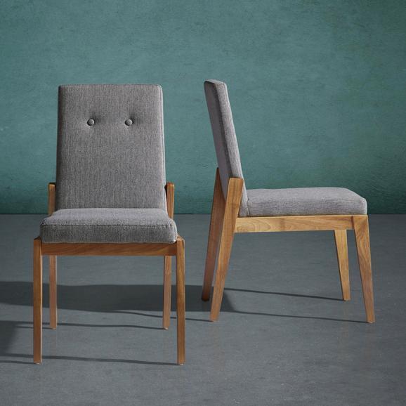 Stuhl Jarry - Grau, MODERN, Holz/Textil (47/86/58cm) - Mömax modern living