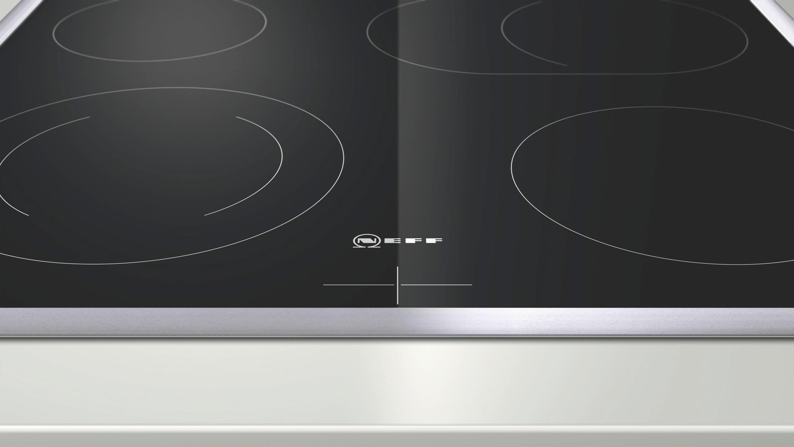 Glaskeramikkochfeld Neff Mr1342n, 4 Kochzonen - KONVENTIONELL, Glas/Metall (58,3/4,3/51,3cm) - NEFF