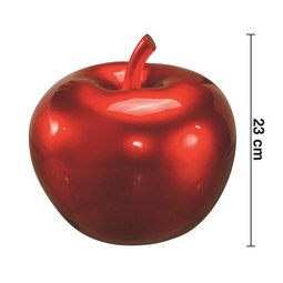 Dekoapfel Lizzy - Rot, LIFESTYLE, Kunststoff (25/23cm) - MÖMAX modern living