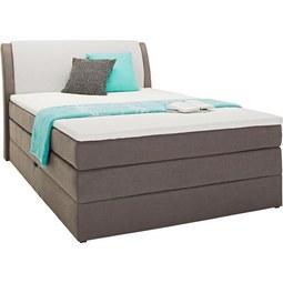 Postelja Boxspring 140x200 Cm Amalfi - siva/svetlo siva, Konvencionalno, tekstil (140/200cm) - Premium Living
