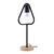 Tischleuchte max. 40 Watt 'Mauricio' - Schwarz, MODERN, Holz/Metall (18/15/30cm) - Bessagi Home