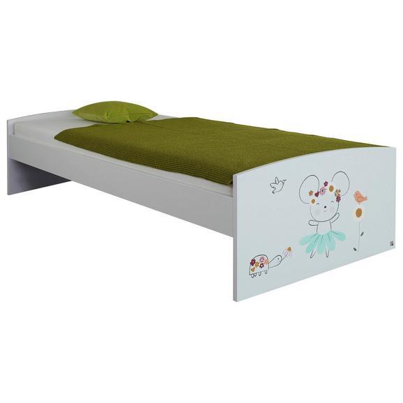 Bett in Weiß - KONVENTIONELL, Holzwerkstoff (95/54/206cm) - Premium Living