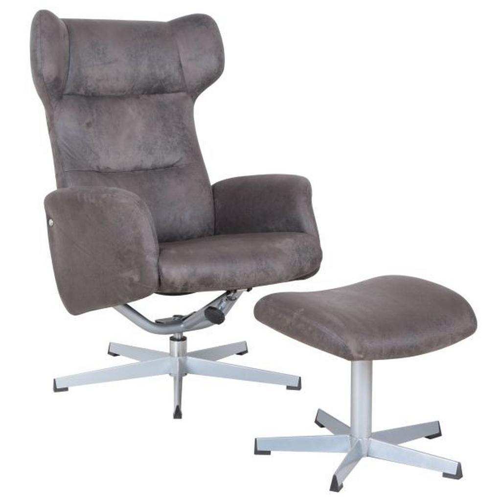 Relaxsessel in Braun/Silberfarben