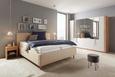 Oblazinjena Postelja Glenn - hrast/bež, Konvencionalno, tekstil/les (180/200cm) - Premium Living