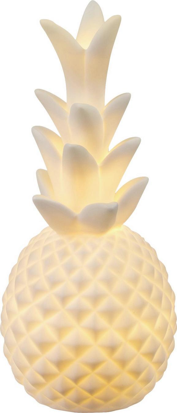 Okrasna Led-svetilka Chaita - bela, keramika (8,5/18cm)