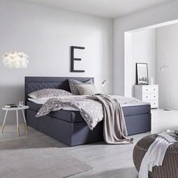 Boxbett Rosa ca.180x200cm inkl. Topper - Anthrazit, MODERN, Holz/Textil (208/180/103cm) - Mömax modern living