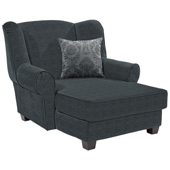 Fotelja Living - siva/tamno siva, Romantik / Landhaus, drvo/tekstil (120/98/138cm) - Modern Living