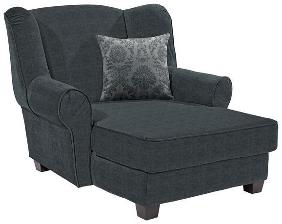 Fotelja Living - siva/tamno siva, Romantik / Landhaus, drvo/tekstil (120/98/138cm)
