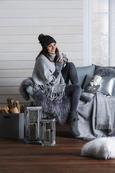 Zierkissen Dubai in Silber, ca. 50x30cm - Silberfarben, Textil (50/30cm) - Mömax modern living