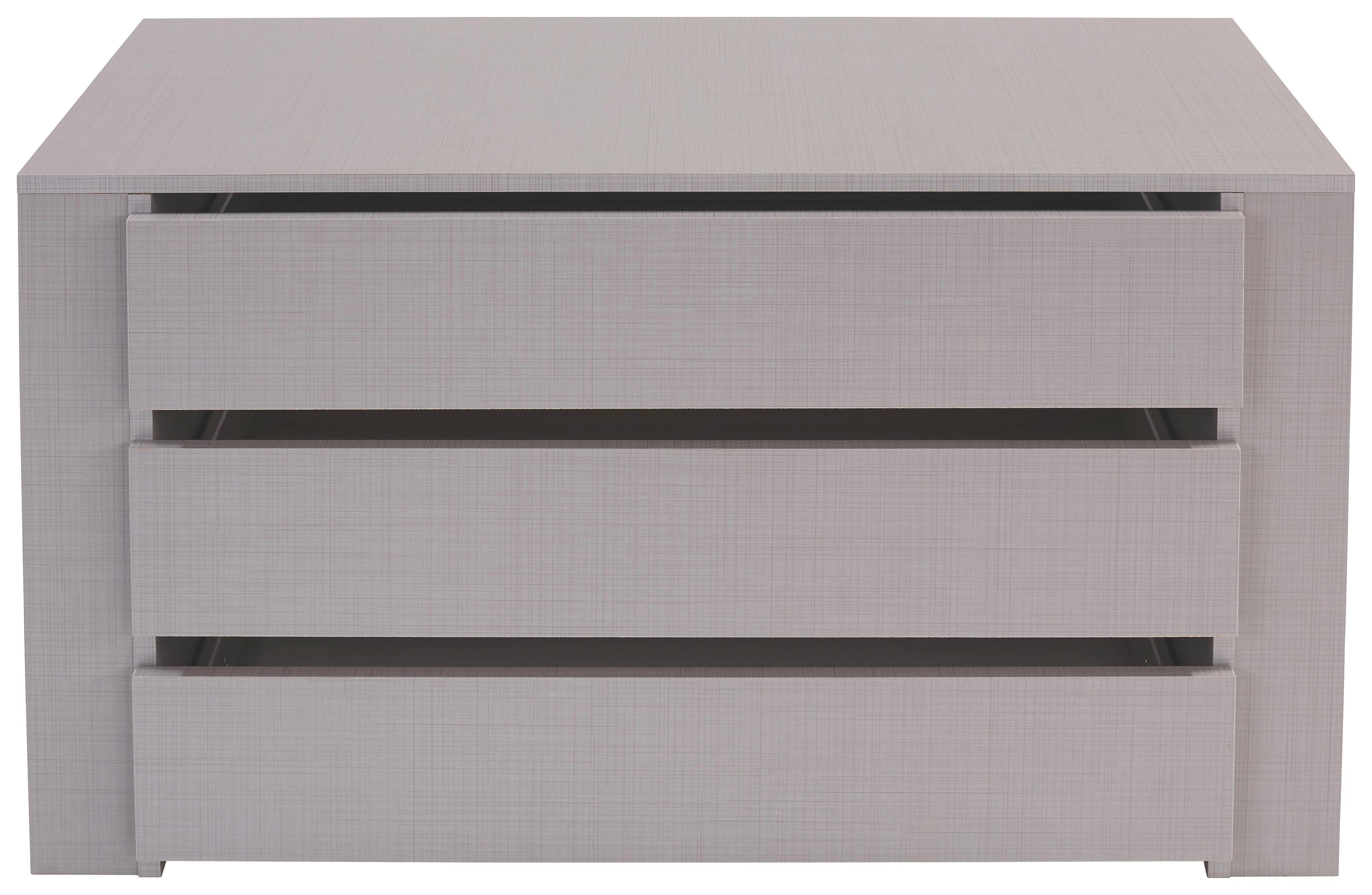 Fiókos Betét Katrin/new York/ilona - szürke, modern, fa/faanyagok (87/54/42cm)