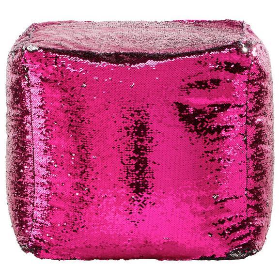 Hocker Pink/Schwarz - Pink, LIFESTYLE, Kunststoff (45/45/45cm) - Mömax modern living
