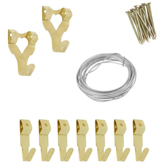 Stenski Obešalnik Doro -ext- - zlata, Konvencionalno, kovina