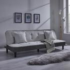 Sofa Babette mit Schlaffunktion inkl. Kissen - Hellgrau/Schwarz, MODERN, Holz/Kunststoff (200/70/82cm) - Mömax modern living