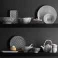 Farfurii Shiva - alb/negru, Lifestyle, ceramică (20/11/2,5cm) - Mömax modern living