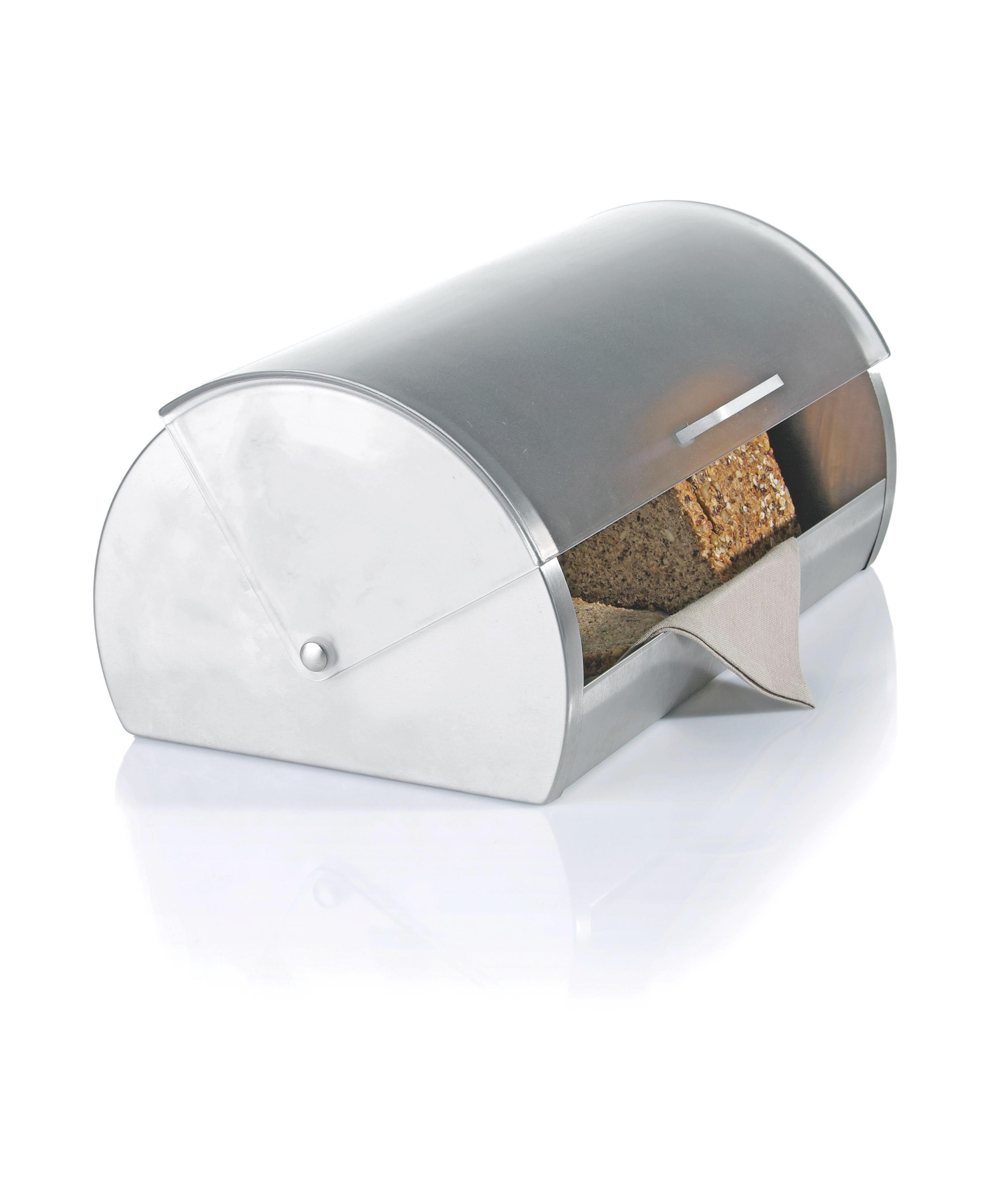 Brotdose Grau - Klar/Edelstahlfarben, Kunststoff/Metall (18,5/28/39,2cm) - MÖMAX modern living