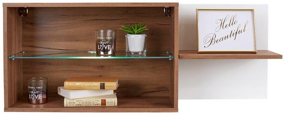 Viseči Element Avensis New - bela/hrast, Konvencionalno, steklo/leseni material (112/43/25cm) - Mömax modern living
