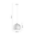 Lustră Konrad - culoare crom, Modern, plastic/metal (30/150cm) - Modern Living