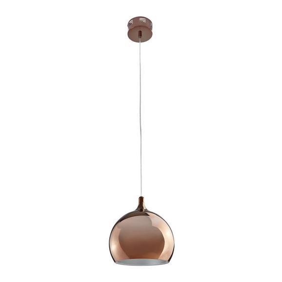 Pendelleuchte Alex mit LED - Goldfarben/Kupferfarben, MODERN, Kunststoff/Metall (25/25/120cm) - Bessagi Home