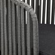 Loungegarnitur in grau 'Viola' - Dunkelgrau/Akaziefarben, MODERN, Holz/Kunststoff (160/55/75/81/90/58cm) - Bessagi Garden