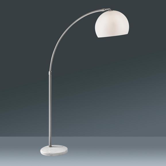 Stehleuchte Scarlett, max. 60 Watt - Silberfarben/Weiß, Design, Kunststoff/Stein (38/200cm) - Mömax modern living