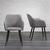 Stuhl Nicola - Dunkelbraun/Grau, MODERN, Holz/Textil (58/82,5/61,5cm) - Bessagi Home
