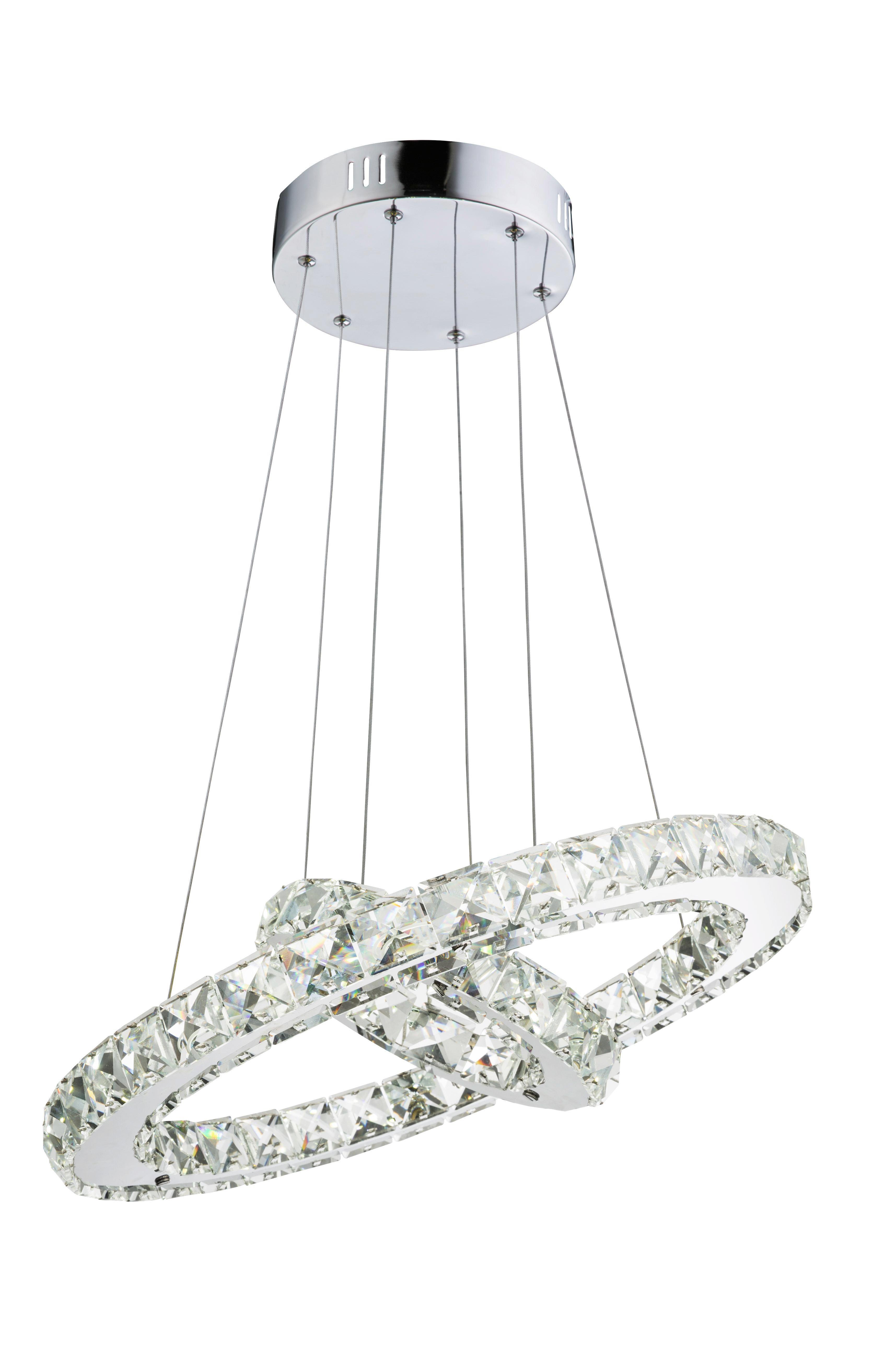 LED-Hängeleuchte Forli, max. 24 Watt - Chromfarben, MODERN, Kunststoff/Metall (40/150cm) - MÖMAX modern living