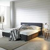 Polsterbett Maila 180x200cm inkl. Bettladen - Anthrazit, MODERN, Holz/Textil (188/85/211,50cm) - Mömax modern living