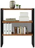 Regal Schwarz/Naturfarben - Schwarz/Naturfarben, LIFESTYLE, Holz/Metall (100/115/35cm) - Modern Living