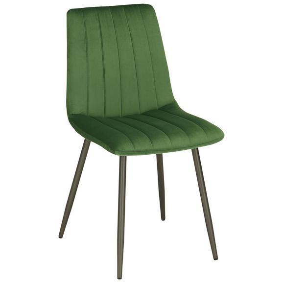 Stol Lisa - zelena/antracit, Trendi, kovina/tekstil (45/88/56cm) - Modern Living