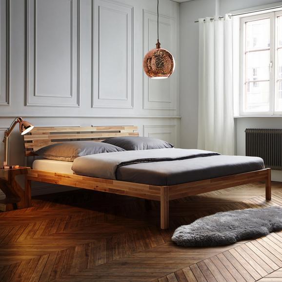Holzbett Ludwig ca.180x200cm - Buchefarben, MODERN, Holz (186/76,5/216cm) - Bessagi Home