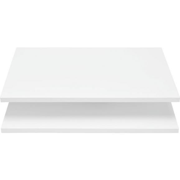 Einlegebodenset in Weiß 2er Set - Weiß, Holzwerkstoff (52/1,6/34cm) - Mömax modern living