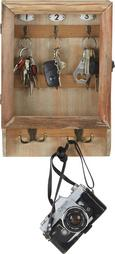 Omarica Za Ključe Ron -sb- - rjava, kovina/les (26/38/8cm)