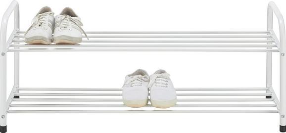 Schuhregal in Weiß mit 2 Ablagen - Weiß, Metall (93/38/35cm) - Mömax modern living