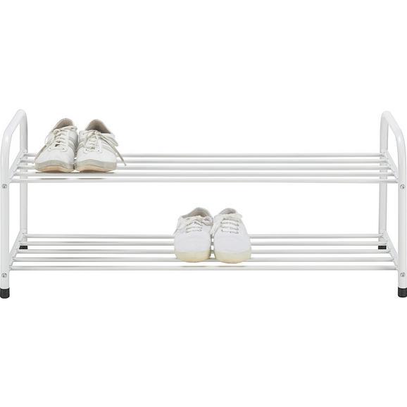 schuhregal in wei mit 2 ablagen online kaufen m max. Black Bedroom Furniture Sets. Home Design Ideas