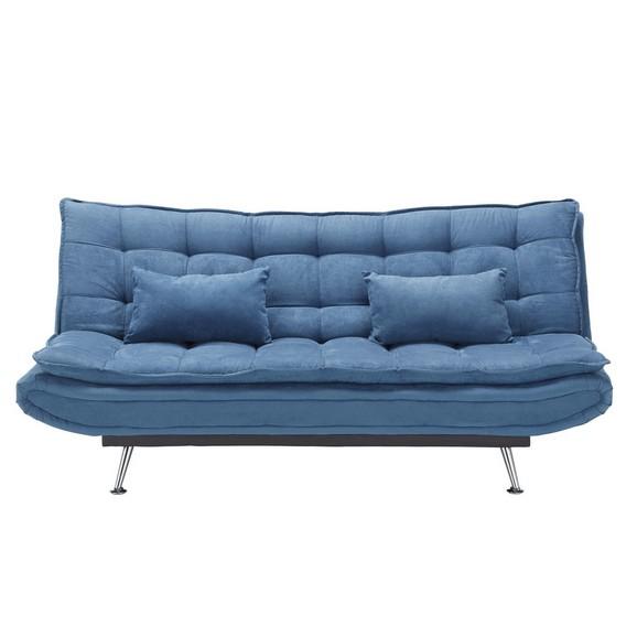 Schlafsofa in blau mit bettfunktion online kaufen m max for Einer schlafsofa